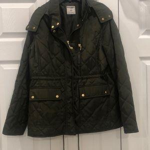 Hooded green jacket